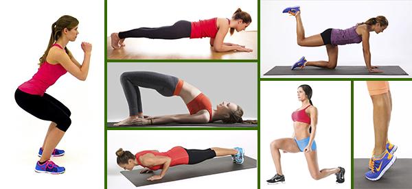 Упражнения для развития мышц в домашних условиях