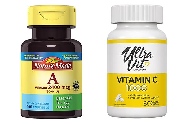 Витамины А и С от катаракты